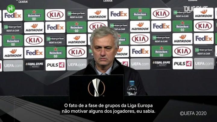 Mourinho lamenta postura do Tottenham em empate com o LASK na Liga Europa