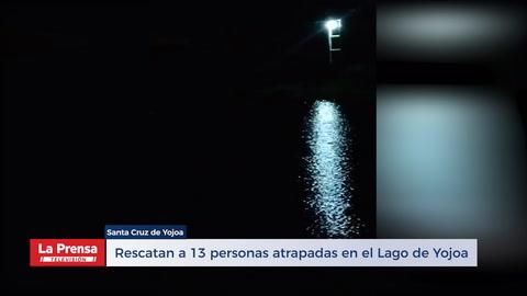 Rescatan A 13 personas atrapadas en el Lago de Yojoa