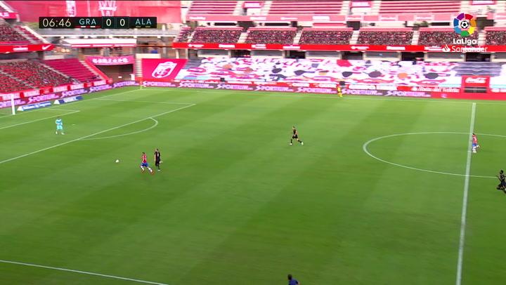 Gol de Soldado (1-0) en el Granada 2-1 Alavés