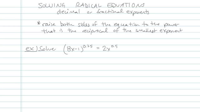 Solving an Equation with Radicals - Problem 10