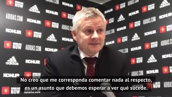 """Solskjaer, sobre la Superliga: """"Son especulaciones, debemos esperar"""""""