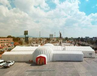 Hospital inflable en México para atender el coronavirus