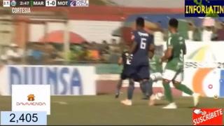 El Chino Discua abre el marcador para Marathón ante Motagua 1-0