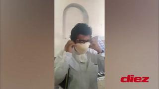 Alcalde de Choluteca recomieda usar mascarillas usadas con brasier