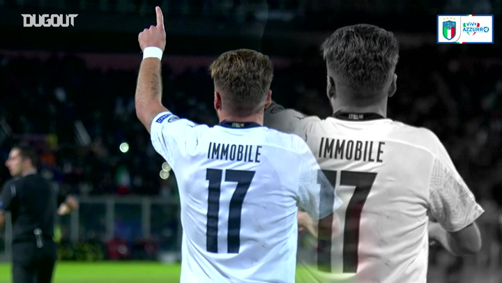 All Ciro Immobile's goals for Italy