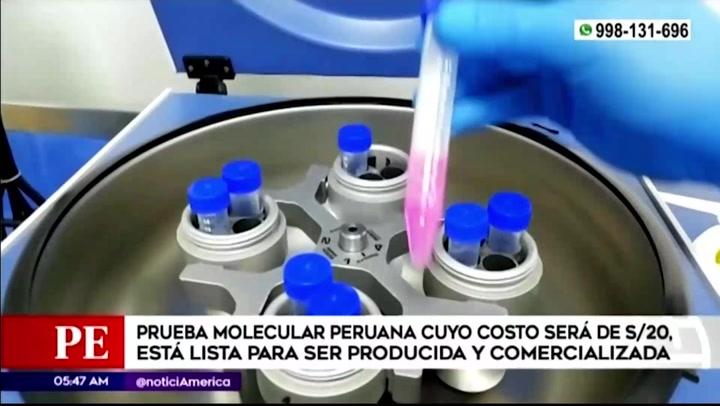 Prueba molecular peruana costará 20 soles y resultados estarían listos en dos horas