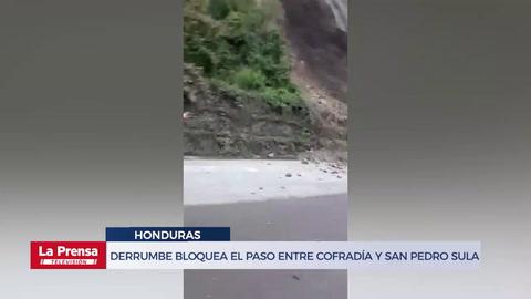 Derrumbe bloquea el paso entre Cofradía y San Pedro Sula
