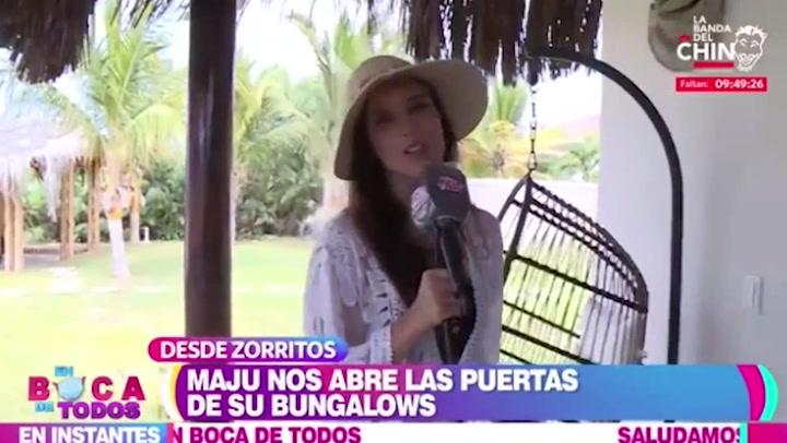 """Maju Mantilla presentó las instalaciones de su hotel """"Aquamare Bungalows"""" en Tumbes"""