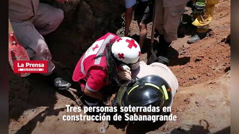 Tres personas soterradas en construcción de Sabanagrande