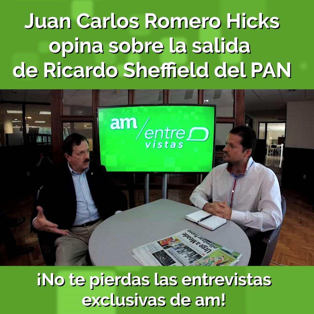 Romero Hicks opina sobre la salida de Sheffield del PAN