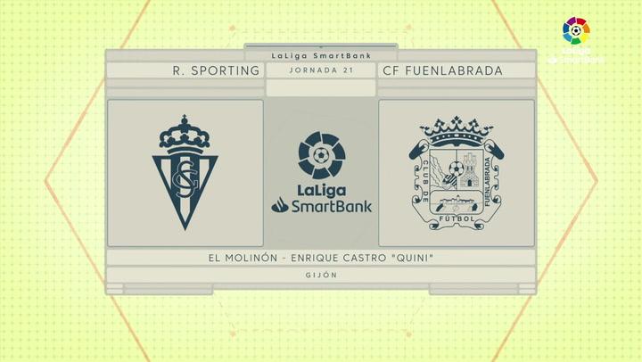 LaLiga SmartBank (J21): Resumen y goles del Sporting 2-1 Fuenlabrada