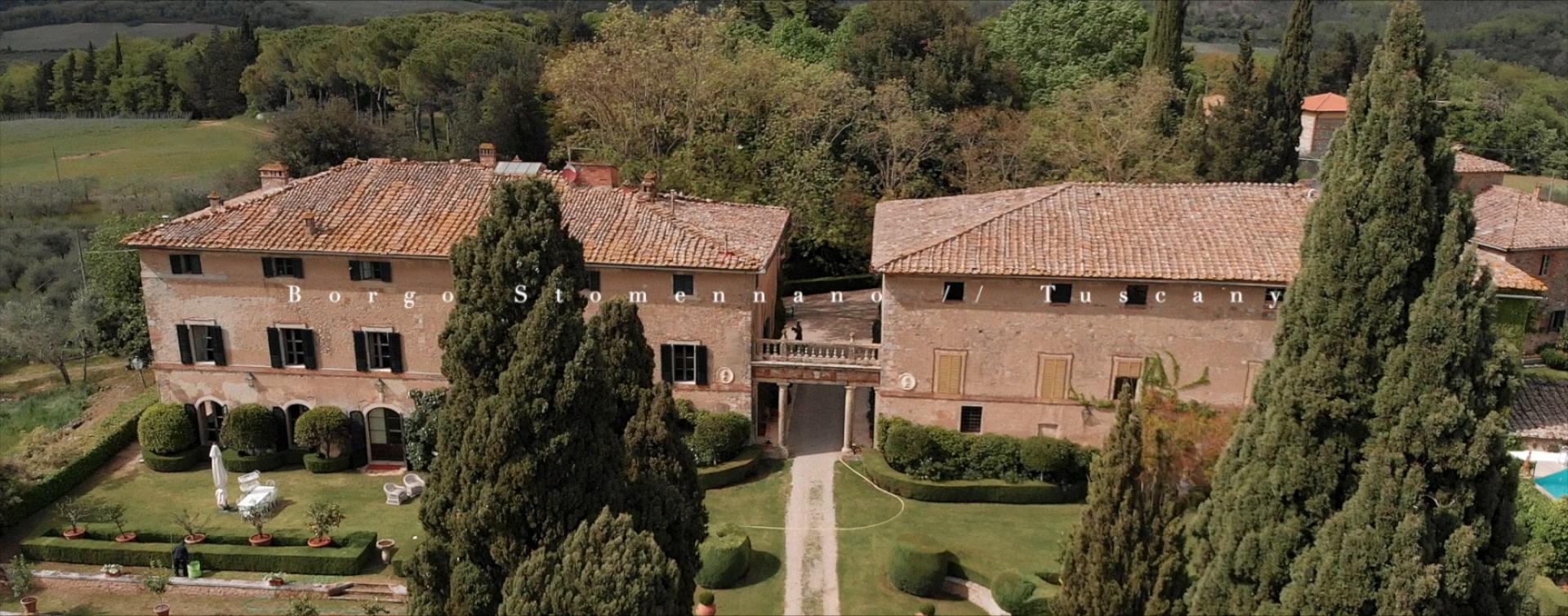 Adrienne + Andrew | Monteriggioni, Italy | Borgo Stomennano