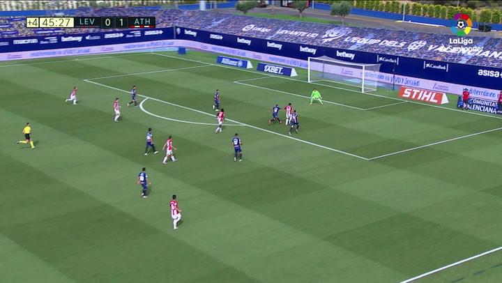 Gol de Raúl García (0-2) en el Levante 1-2 Athletic