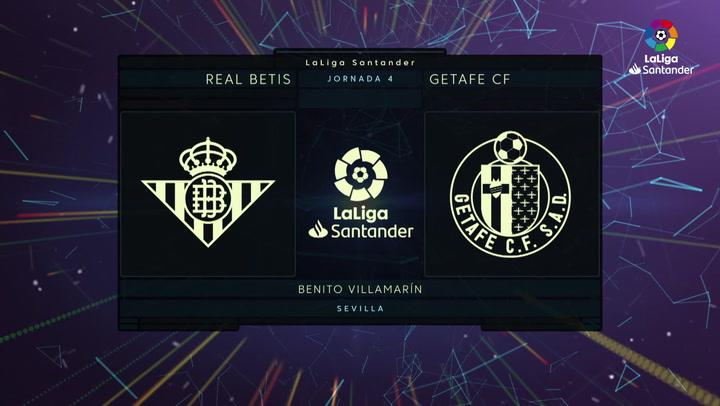 LaLiga (J4): Resumen y goles del Betis 1-1 Getafe