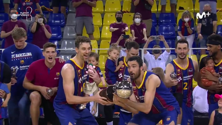 Así fue la celebración del Barça, campeón de la Liga Endesa 2020/21
