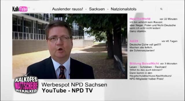 Wahlwerbung NPD Sachsen