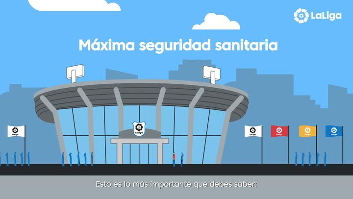 Este es el protocolo de LaLiga de acceso a los estadios cuando los aficionados regresen a los estadios