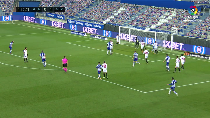 Gol de Édgar (1-1) en el Alavés 1-2 Sevilla