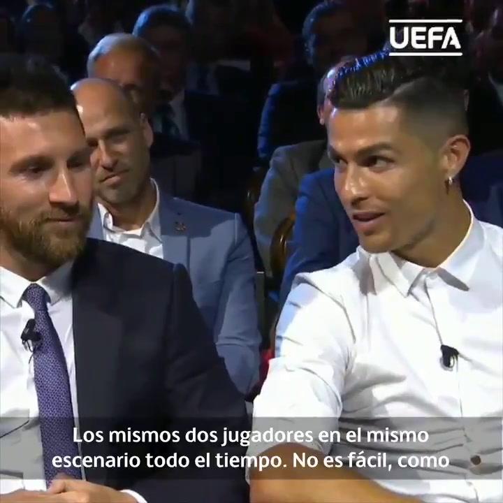 """Cristiano: """"Espero que Messi y yo cenemos algún día juntos"""""""