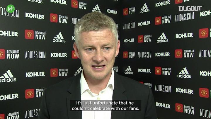 Solskjær delighted for Manchester United hat-trick hero Martial