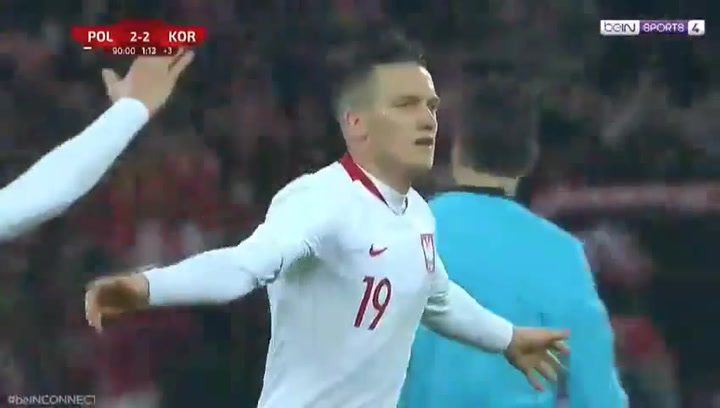 Un gol de Zielinski con la selección de Polonia