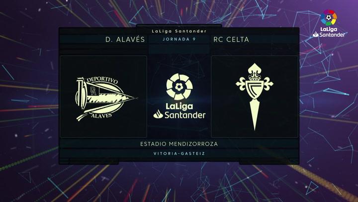 LaLiga Santander (J9): Resumen y goles del Alavés 2-0 Celta