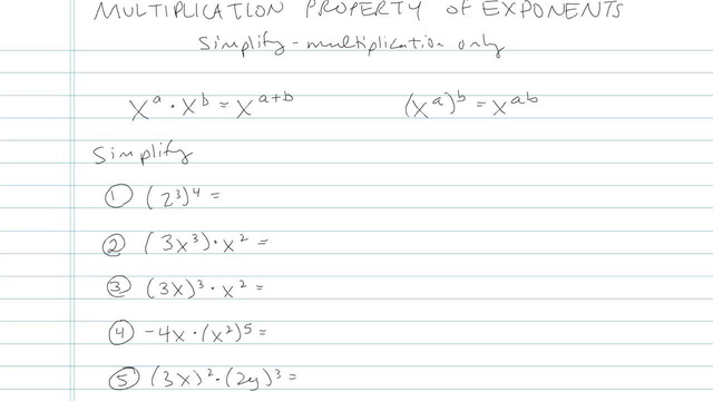 Multiplication and Division Properties of Exponents - Problem 4