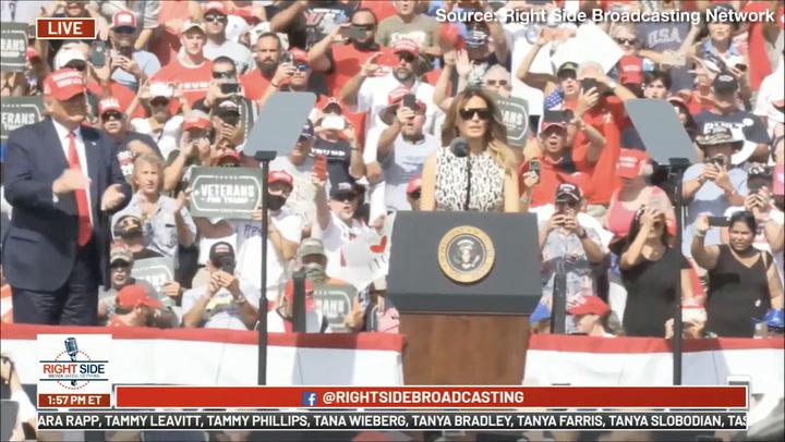 Melania Trump Campaigns with Donald Trump: