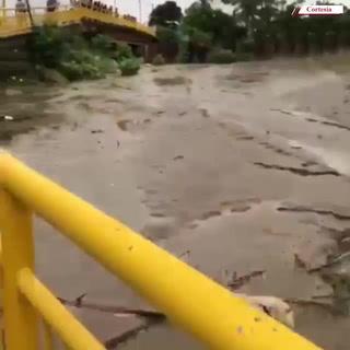 Se vuelve a inundar La Lima por crecida del río Chamelecón