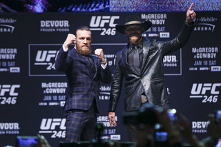 UFC 246 Press Conference: McGregor vs. Cerrone Highlights and Staredown – VIDEO