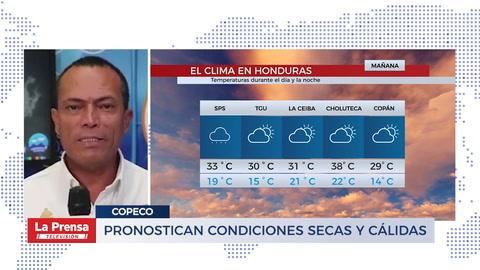 Pronostican condiciones secas y cálidas para las próximas horas