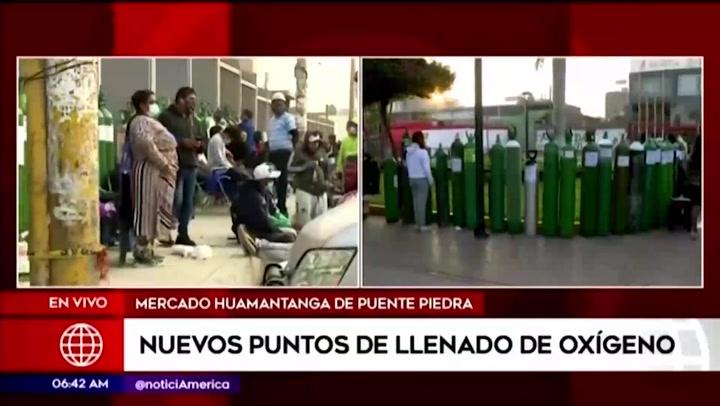 Puente Piedra: nuevas plantas de oxígeno en el mercado de Huamantanga y plaza de armas