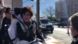 U.S. Sen. Jacky Rosen falls at Las Vegas parade
