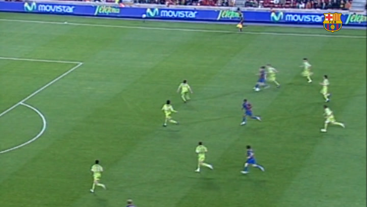 Messi's amazing curled goal against Getafe