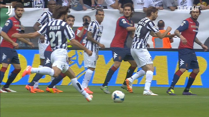 Pirlo's free-kick helps Juventus beat Cagliari