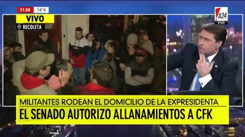 Aguante militante en la casa de Cristina en Recoleta
