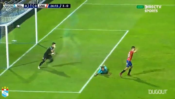 Sporting Cristal's 3-0 win vs Union Española in the Copa Sudamericana