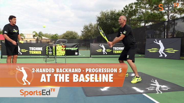 2-Handed Backhand Progression 5 - Putting It Together On The Baseline