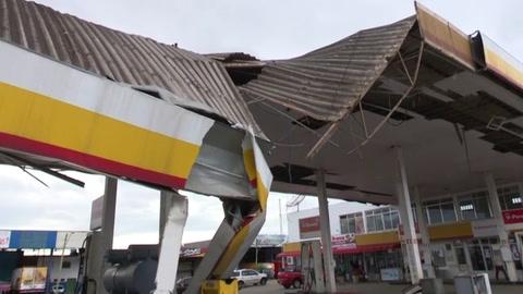 Ciclón deja estela de destrucción en sur de Brasil