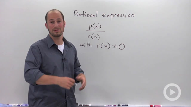 Definition and Domain of a Rational Expression