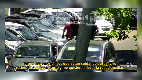 Un video muestra cómo detuvieron a un trapito que tenía pedido de captura