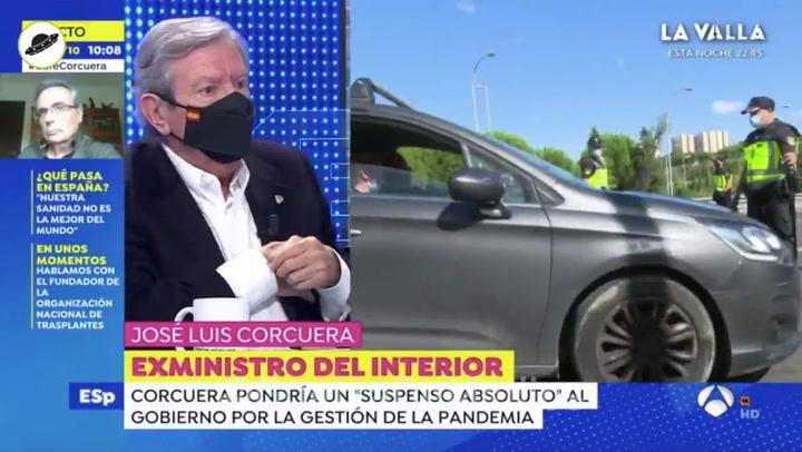 Susto de José Luis Corcuera en plena entrevista con Susanna Griso