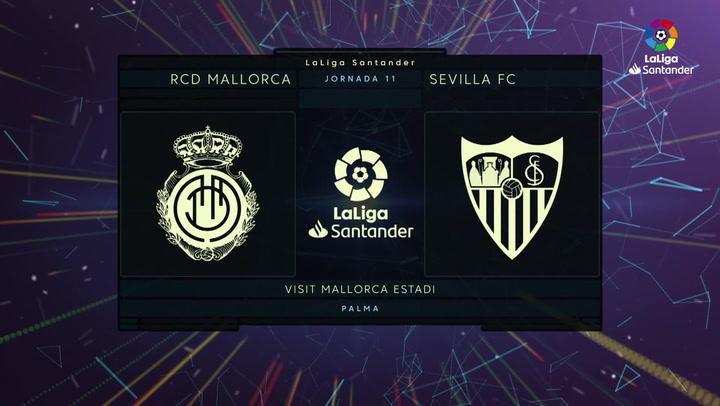 LaLiga Santander (Jornada 11): Mallorca 1-1 Sevilla