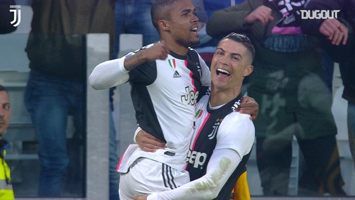 Cristiano Ronaldo scores first Serie A hat-trick vs Cagliari