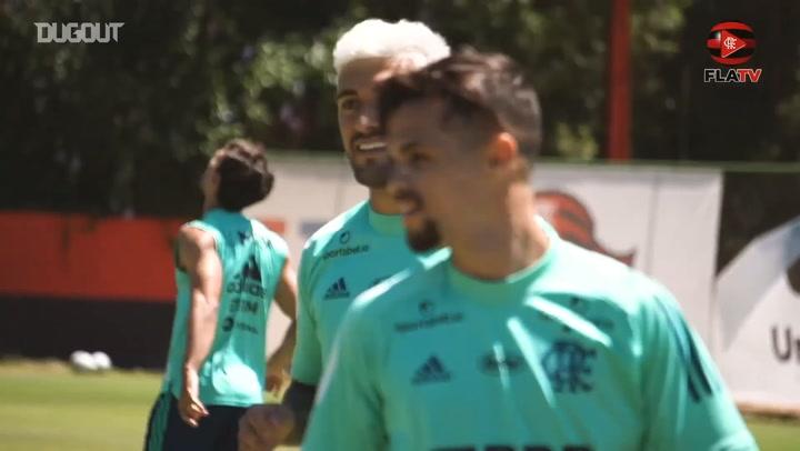 Flamengo's last training session before Goiás clash