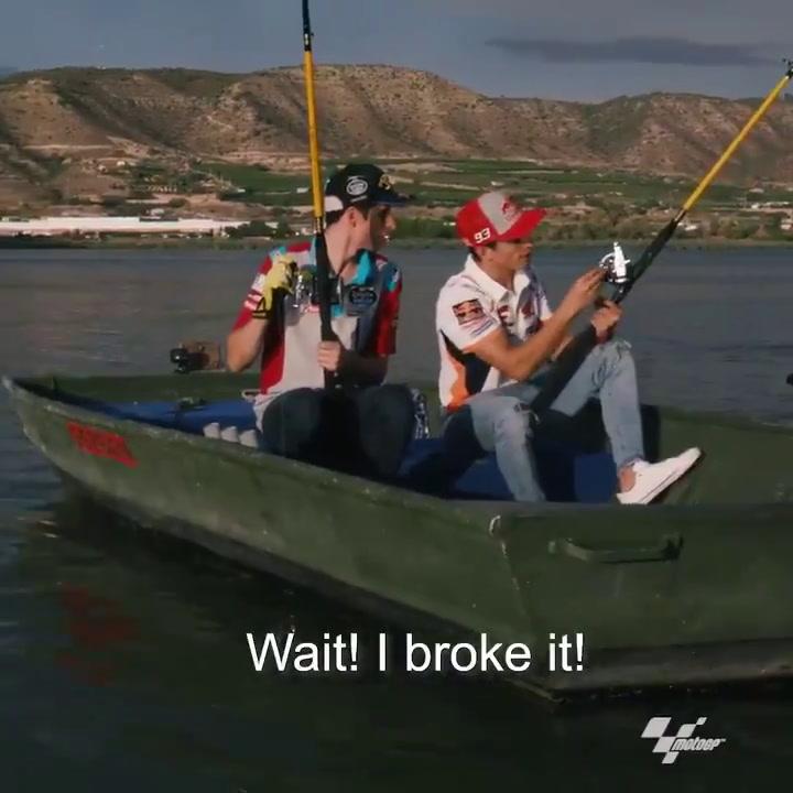 Los hermanos Márquez, de pesca en Aragón