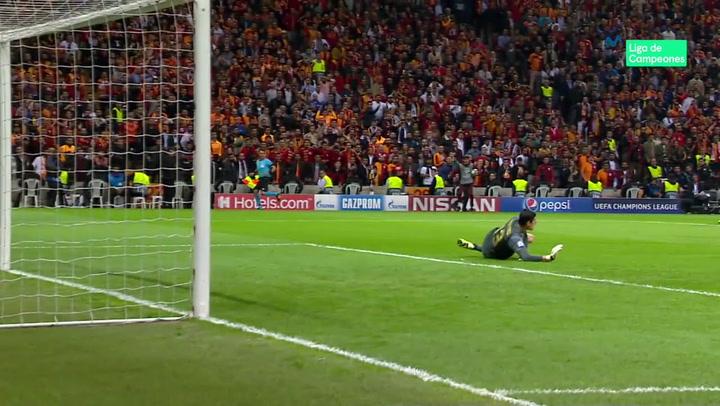 Champions League: Galatasaray-Real Madrid. Paradas de Thibaut Courtois
