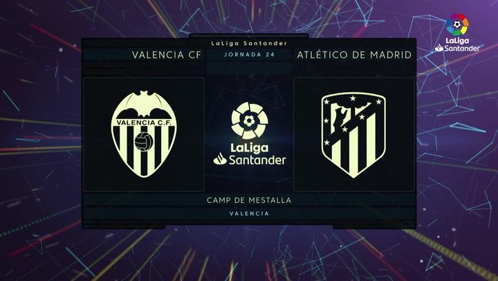 LaLiga (J24): Resumen y goles del Valencia 2-2 Atlético
