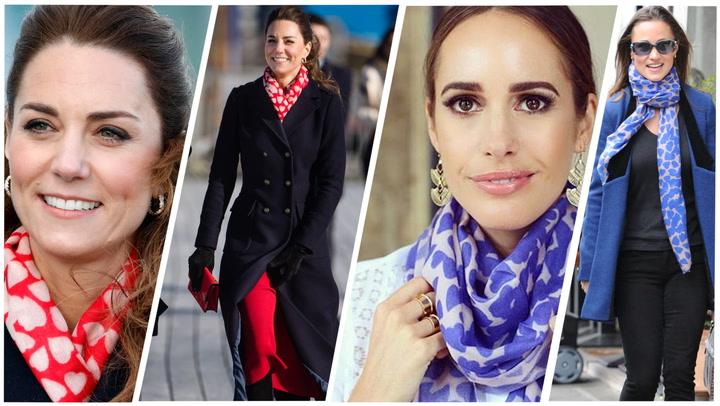 La historia del pañuelo más romántico de Kate y Pippa Middleton