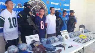 Tegucigalpa: FNAMP captura a 4 supuestos pandilleros con armas